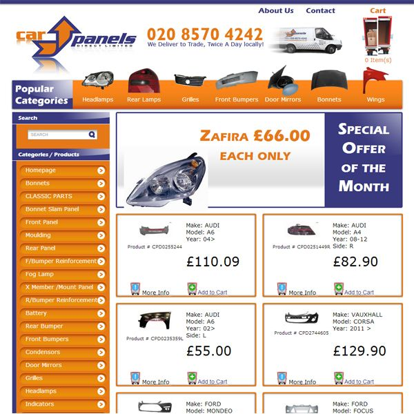 Car Panels Direct Ltd is an independent Online Car Parts supplier of