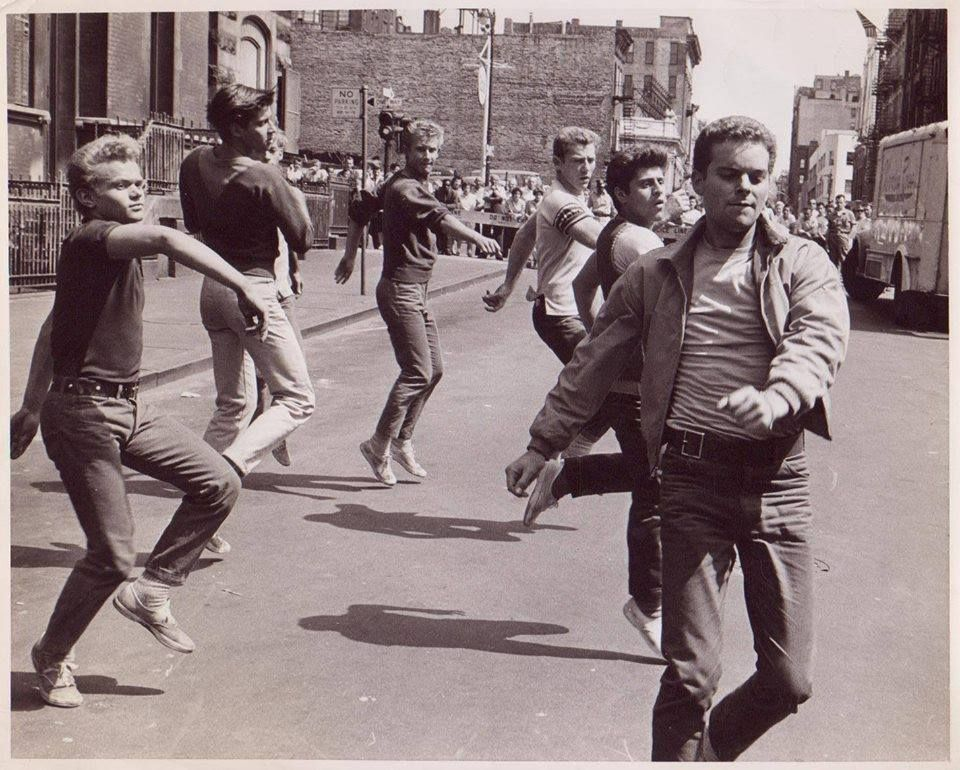 .Filming the opening scenes of West Side Story Safety