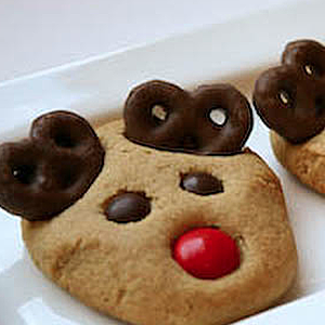 Peanut Butter Reindeer Cookies Christmas Here I Come Other