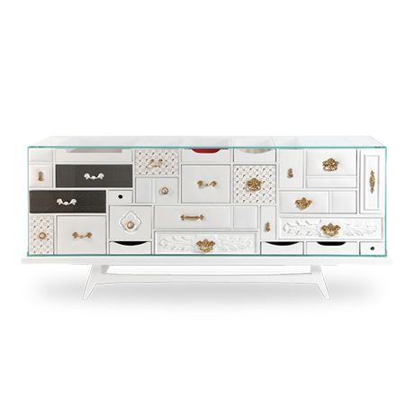 Mondrian Sideboard Exclusive Furniture Luxury furniture, Modern - boca do lobo sideboard designs