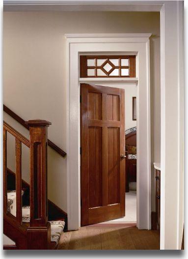 Panel Mahogany Door With Optional Transom.