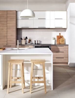 Shared from Flipp: SEKTION/BROKHULT walnut effect light grey kitchen in the IKEA flyer ...