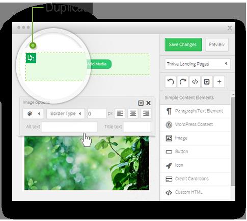 Thrive Content Builder Live Wordpress Front End Editor Wordpress Plugins Wordpress Credit Card Icon