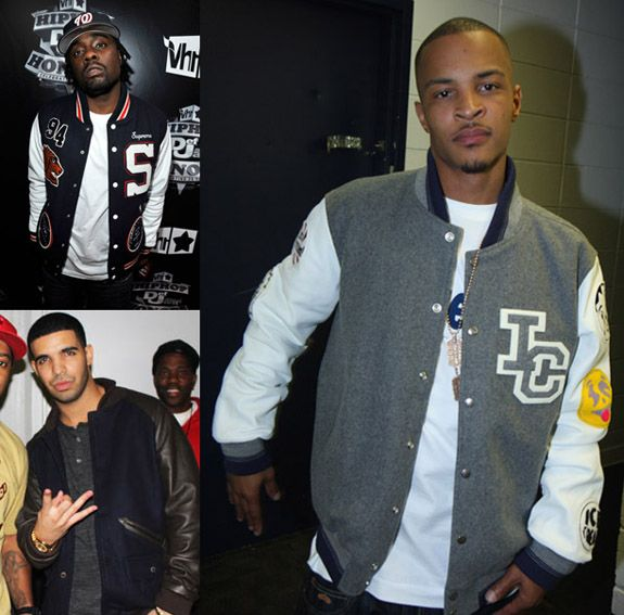 T.I. reppin that jacket | Celebrity Fashion - Custom Letterman ...