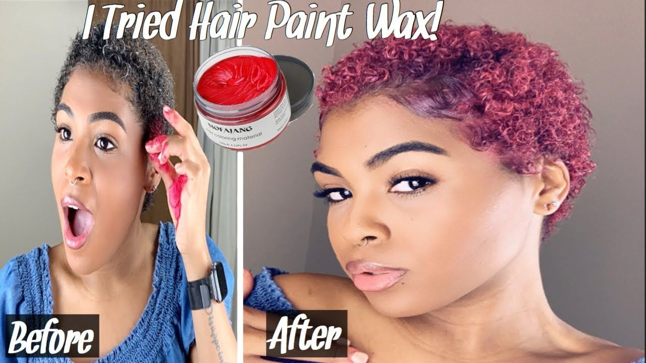 I TRIED HAIR PAINT WAX ON MY TYPE 4 NATURAL HAIR! (Watch