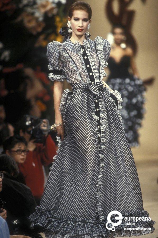 331221b7dd3 Yves Saint Laurent, Spring-Summer 1992, Couture | Yves Saint Laurent ...