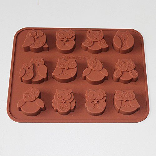 XHaibei Novelty Owl Silicone Moulds for Soap Chocolate Jelly Candy Kids Gifts Baking *** Click image for more details.(This is an Amazon affiliate link and I receive a commission for the sales)