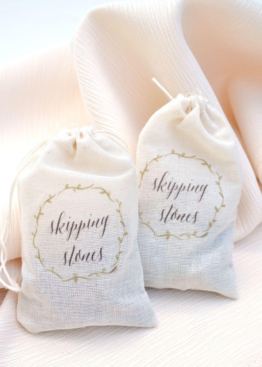 SMP Blogger Bride: DIY Skipping Stone Favor Bags | Favors, Favor ...