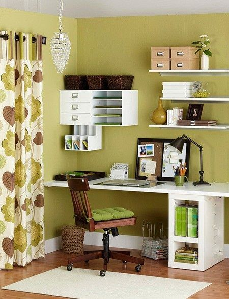 These wall spaces also create great stations. Everything must have a home!