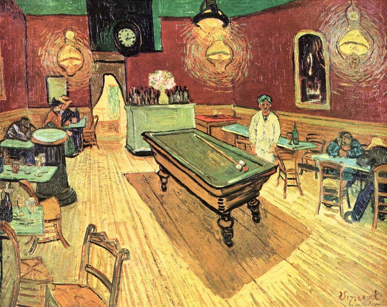 Vincent Van Gogh Pool Table Painting Captivating On