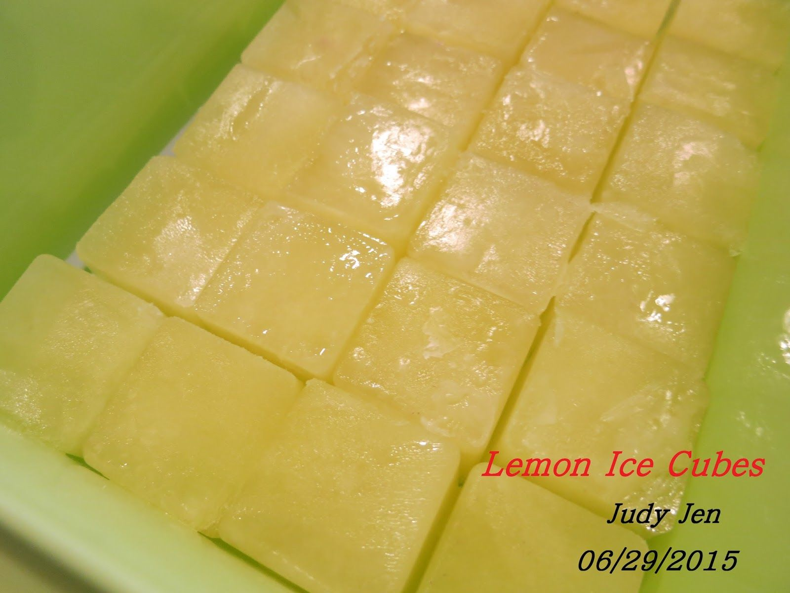 C.A.K.E.: 健康餐Healthy Meals檸檬冰塊迷迭香Lemon Ice Cube with Rosemary 06/29/2015