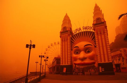 In 2009, an iron-rich dust storm 300 miles wide and 600 miles long moved across Australia, bathing Sydney in an eerie red hue. Lasting three days, the storm was the worst in the state of New South Wales in nearly 70 years.