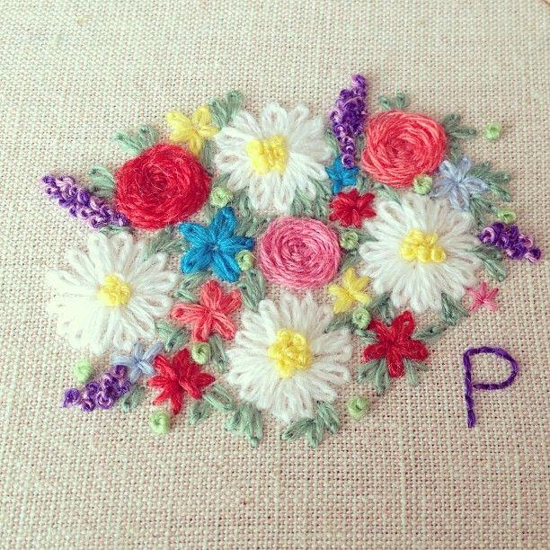 플라워가든시리즈작업 flower garden #embroidery #handmade #flowergarden - @embroidery_panda- #webstagram