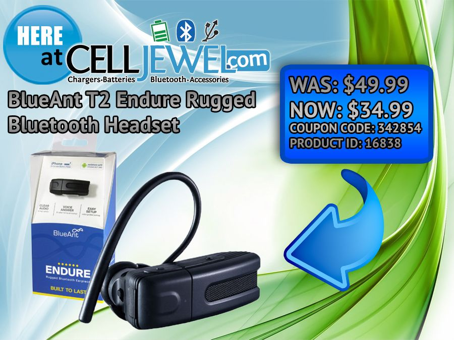 The Blueant T2 Endure Rugged Bluetooth Headset Is Now On At Celljewel Com