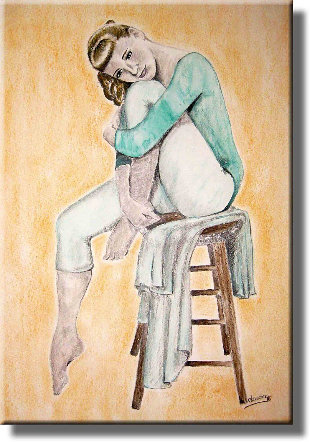 Ballet Dancer Sitting Picture on Acrylic , Wall Art Décor, Ready to ...