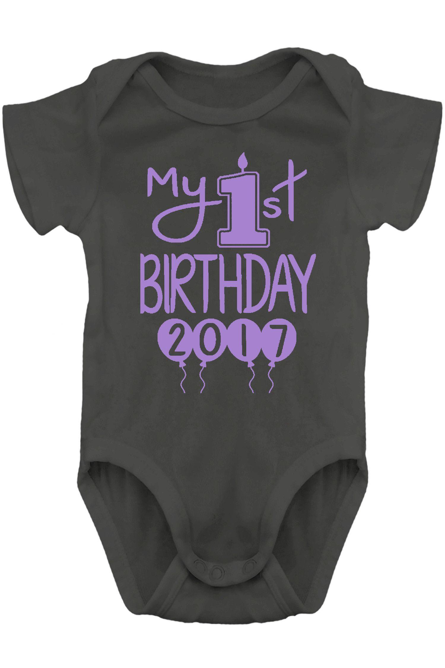 Baby Girl Clothes - My 1st Birthday Balloon Bodysuits