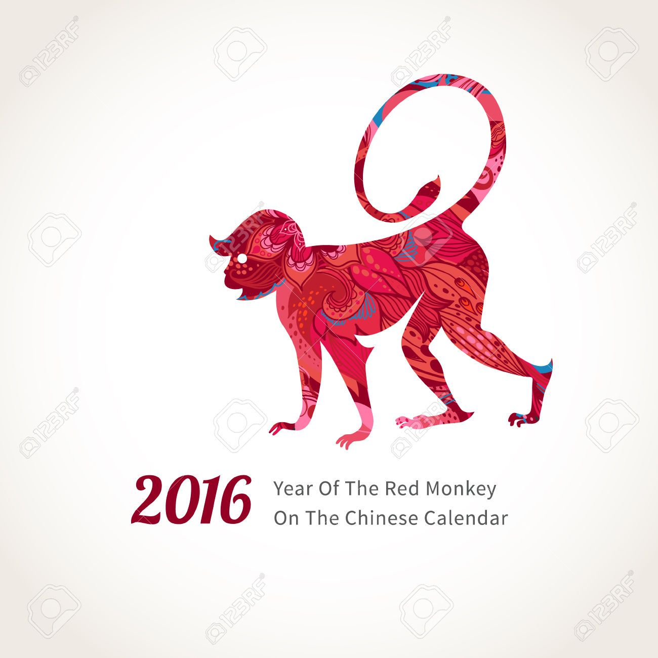 46469976 vector illustration of monkey symbol of 2016 on the chinese chinese new year monkey images stock pictures royalty free chinese new year monkey photos and stock photography buycottarizona Gallery