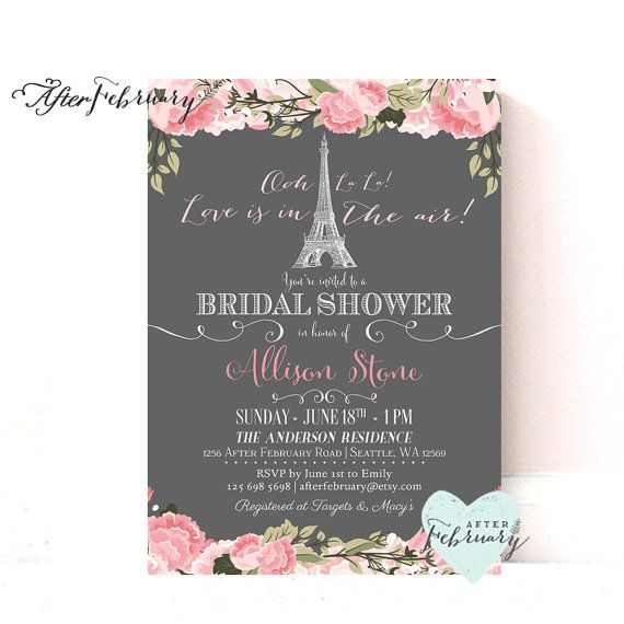 Paris bridal shower invitation blush pink floral bridal shower paris bridal shower invitation blush pink floral love is in the air paris shower invite bridal shower printable no977 filmwisefo