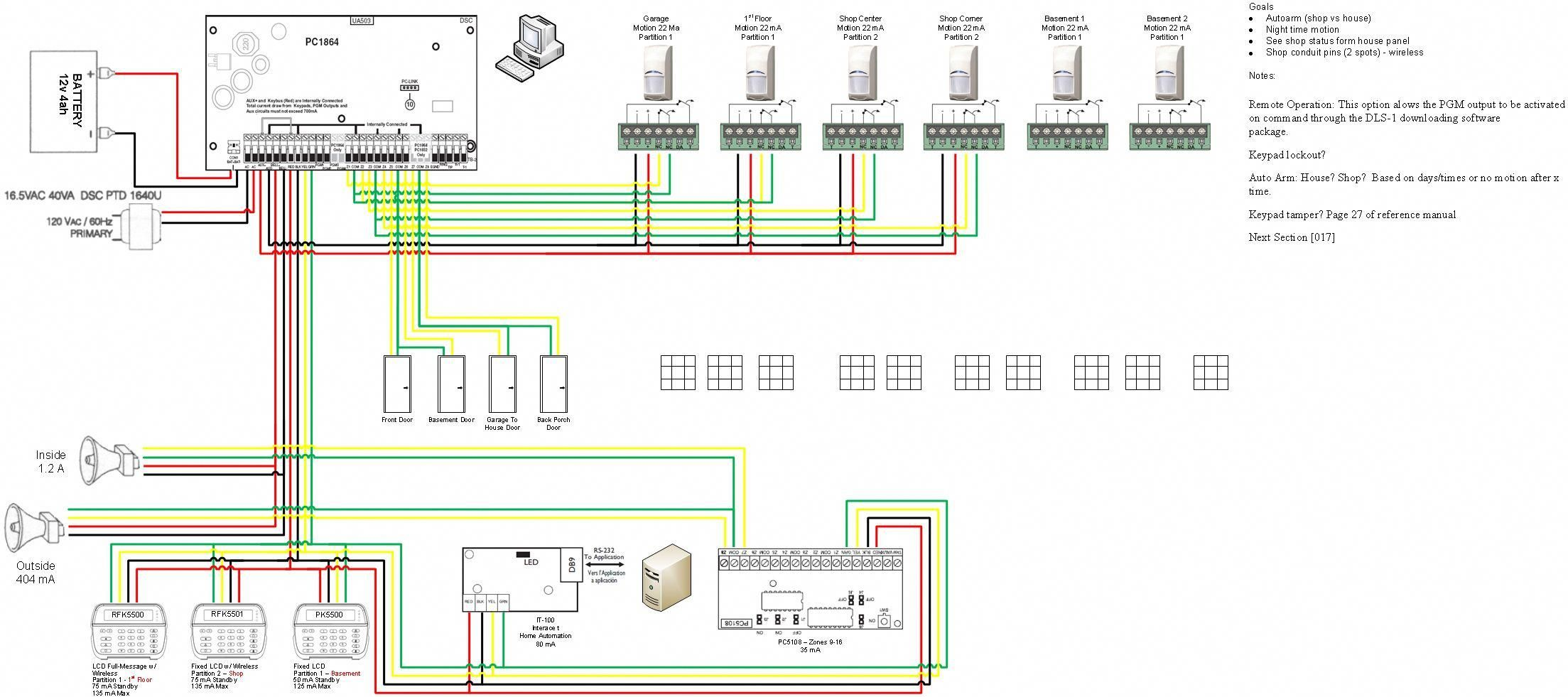 security system wiring diagrams diagram inside motorcycle alarm homesafety [ 2207 x 981 Pixel ]