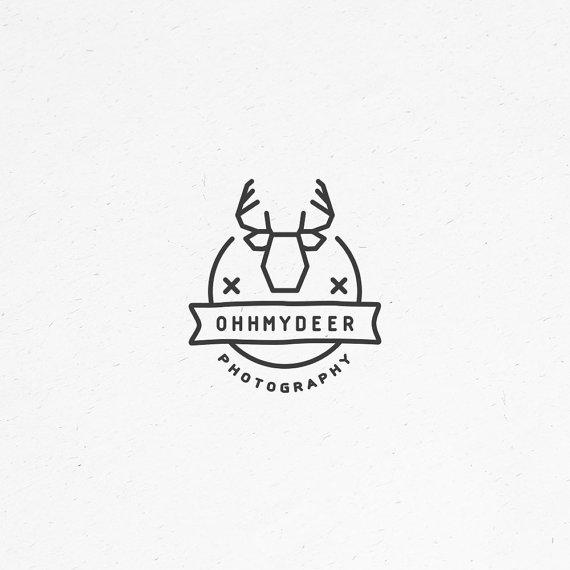 Premade Logo Design Custom Logo Small Business Logo Antler