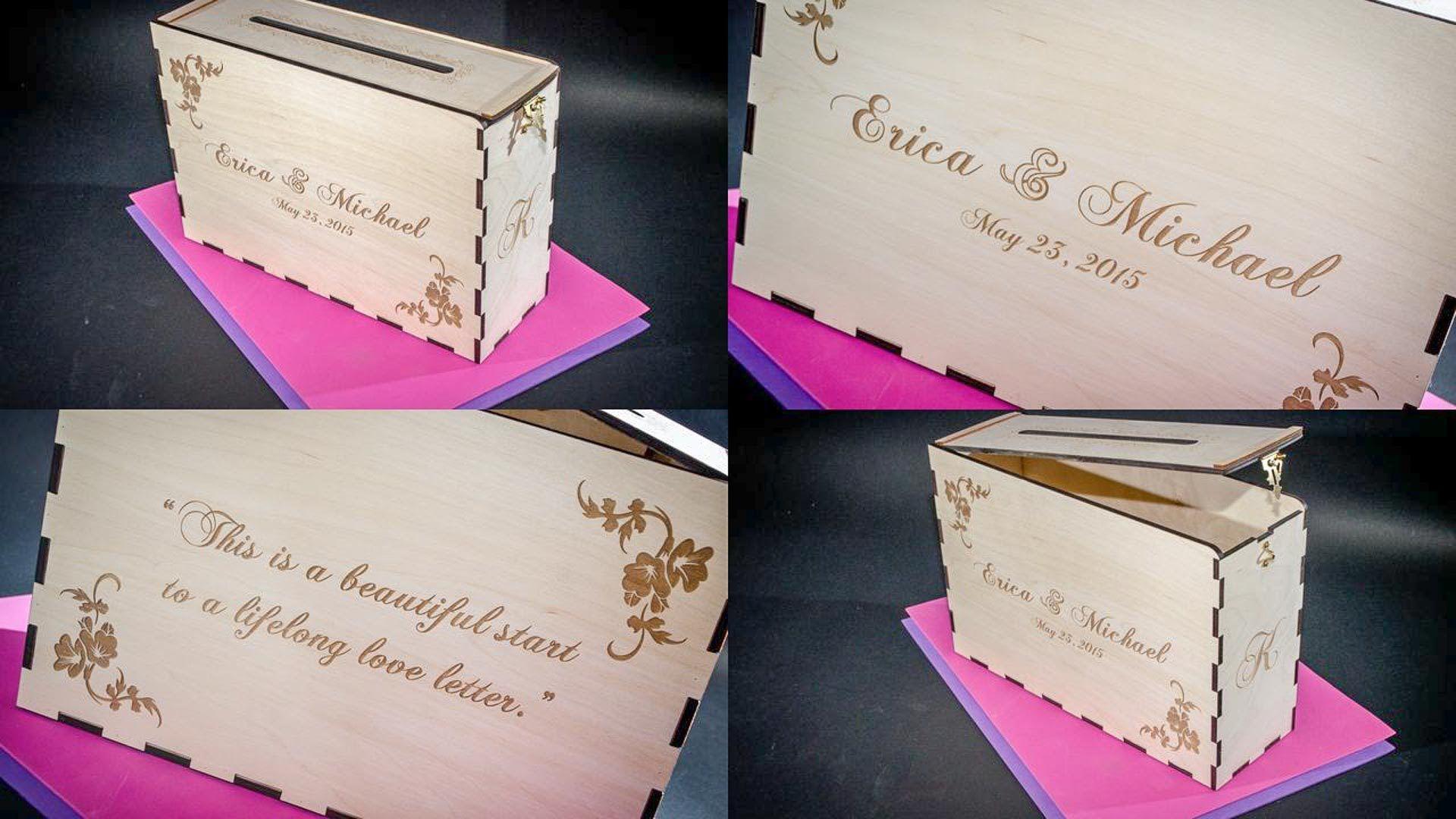 Wedding Card Or Money Box For Erica Michael: Wedding Card Box For Cash At Reisefeber.org