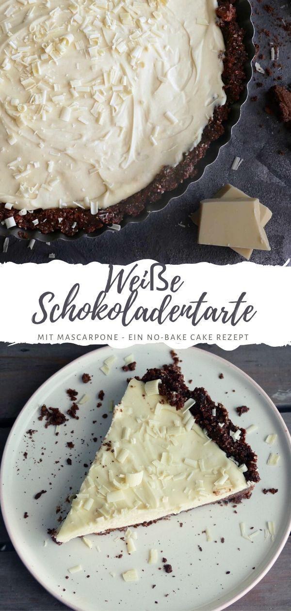 Weiße Schokoladentarte mit Mascarpone-Füllung