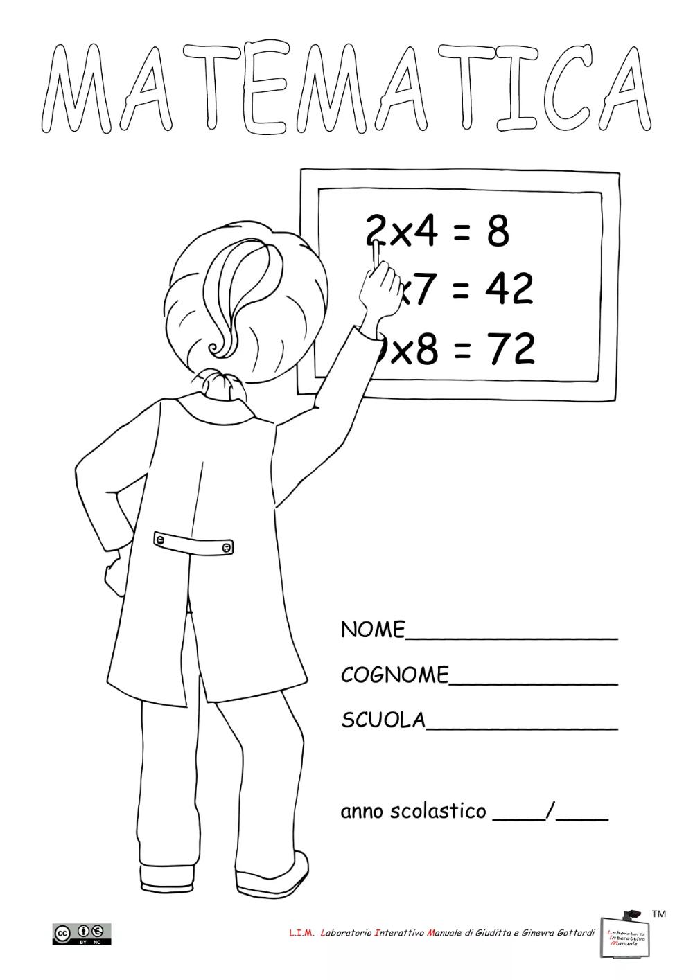Copertine Per Quaderni Di Matematica Classe Quarta 2020 ...