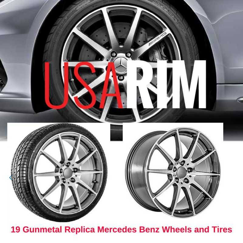19 Gunmetal Replica Mercedes Benz Wheels And Tires Mercedes Wheels