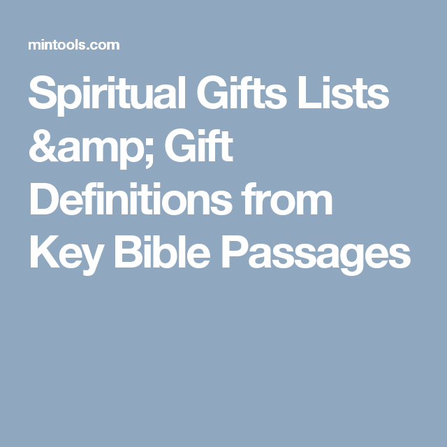 Spiritual gifts lists gift definitions from key bible passages spiritual gifts lists gift definitions from key bible passages negle Images
