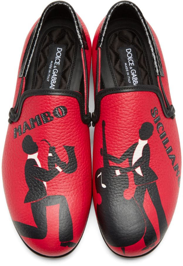 d839f89626 Dolce   Gabbana - Red Mambo Loafers