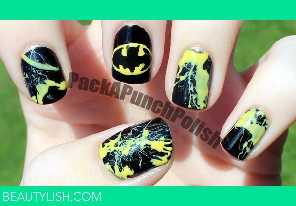 Batman Nails - Mandy Bryant Bryant Clare Batman Nails Packapunchpolish S.'s Photo