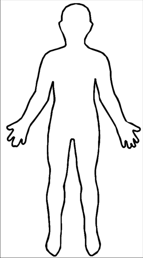 Printable Human Body Outline Kubreforic