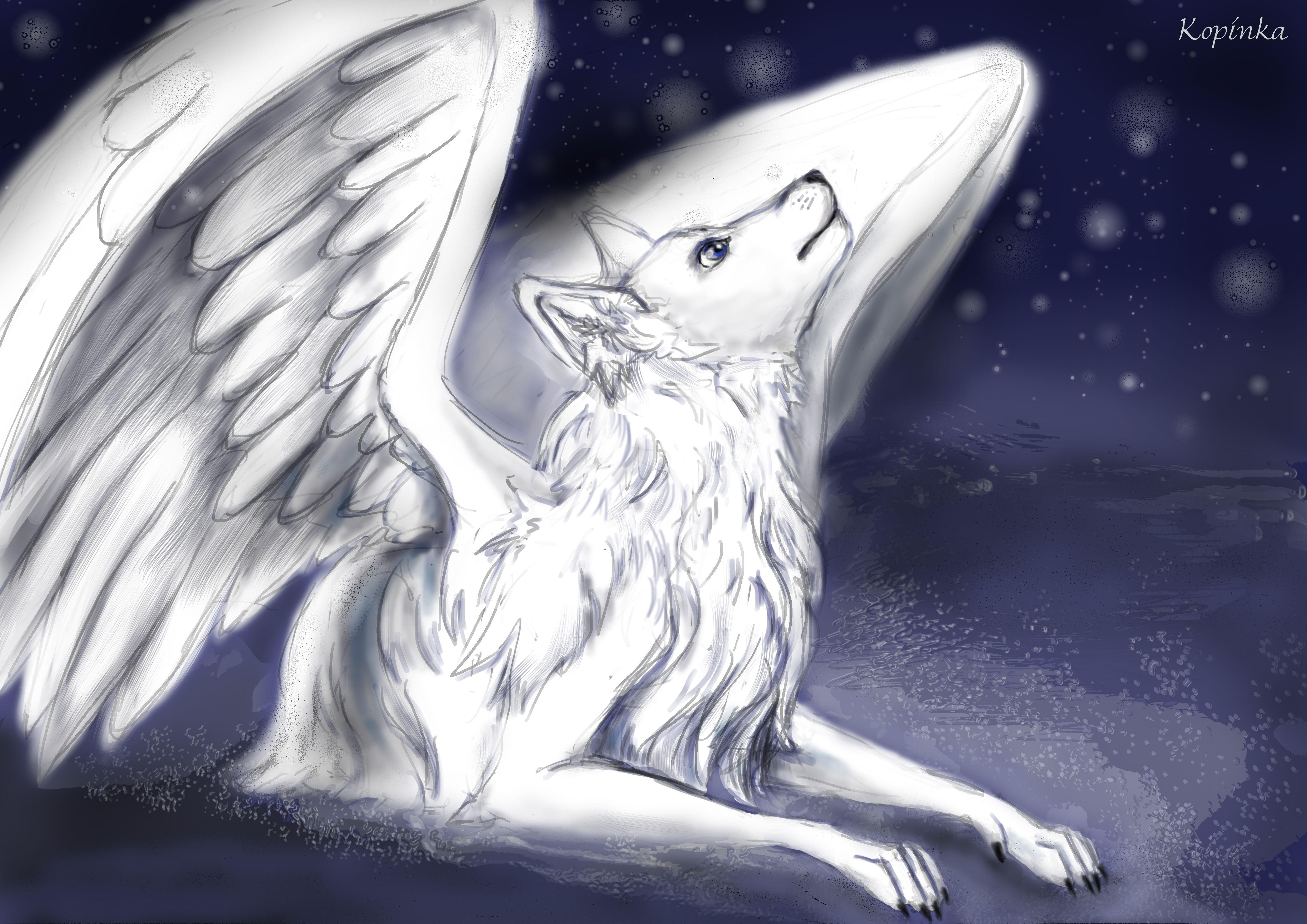 волк белый ангел картинка туника крючком связана
