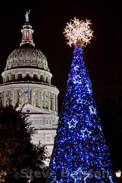 Christmas Lights at the Texas State Capitol Christmas lights