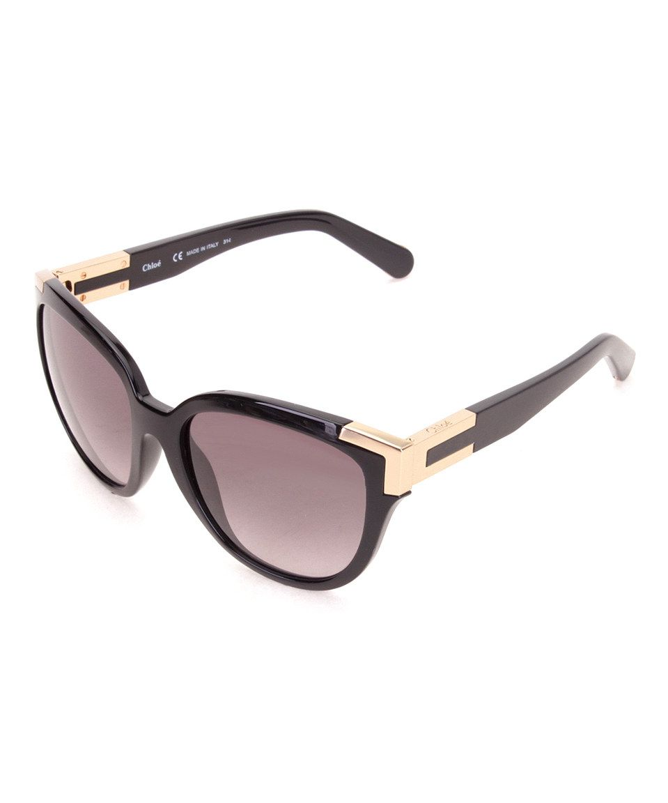 0793912ff575 Take a look at this Chloé Black   Gold Cat-Eye Sunglasses today ...