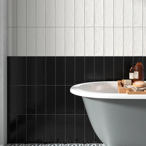 Contempo 4 X 12 Matte Black Field Tile Porcelain Wall Tile On Sale 3 79 Sq Ft In 2020 Porcelain Wall Tile Matte Black Wall Tiles
