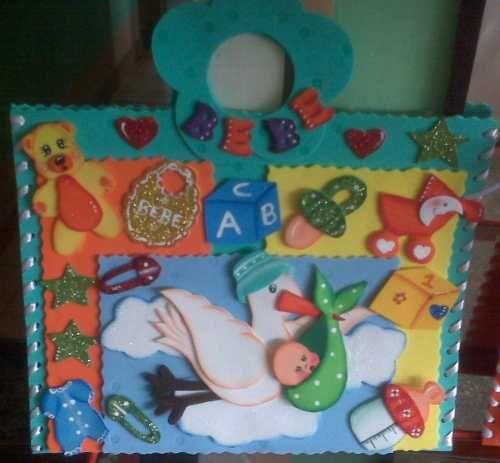 Carpetas Decoradas En Foami. bebes, Escolares, Graduación- Tamaño ...