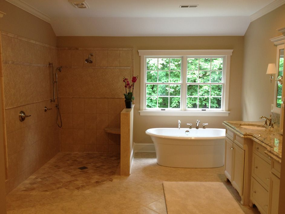 Home Revision Level Entry Showers Curbless Showers Walk In Showers Ada Accessible Showers