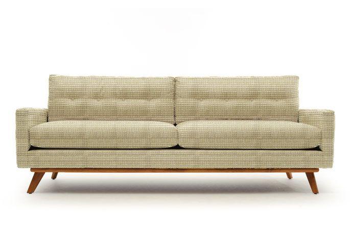 Sectional Sleeper Sofa Mid Century Modern Furniture Thrive Home Furnishings Made In America