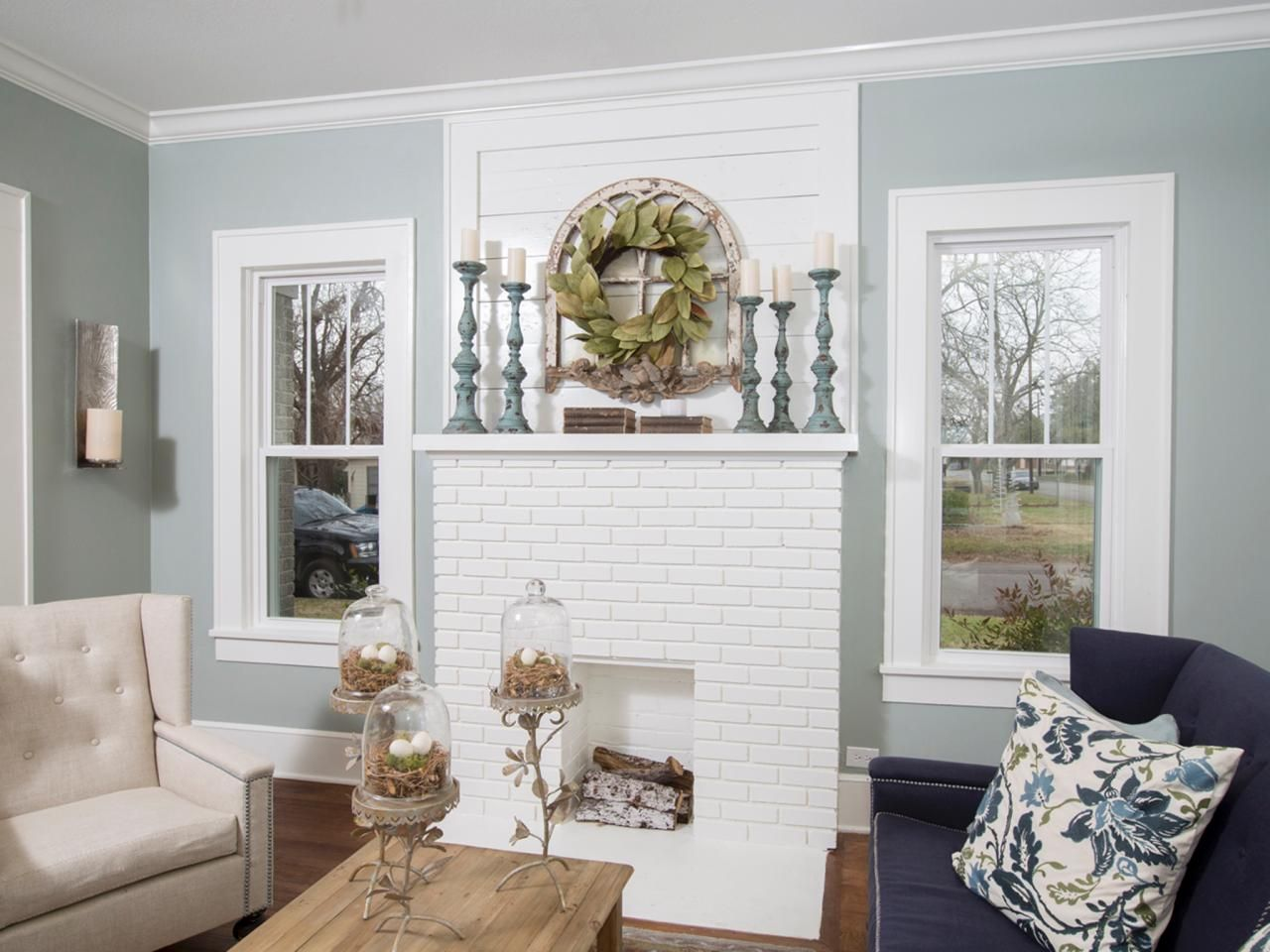 A 1937 Craftsman Home Gets Makeover Fixer Upper Style Painting Brick FireplacesWhite