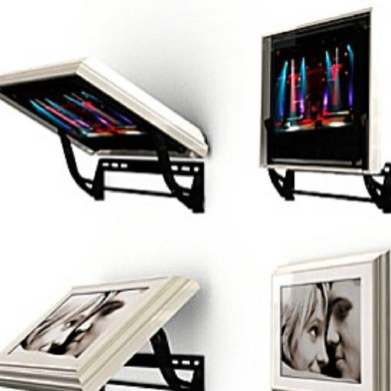 Hidden TV Mount   Clever Way To Hide A Flat Screen TV