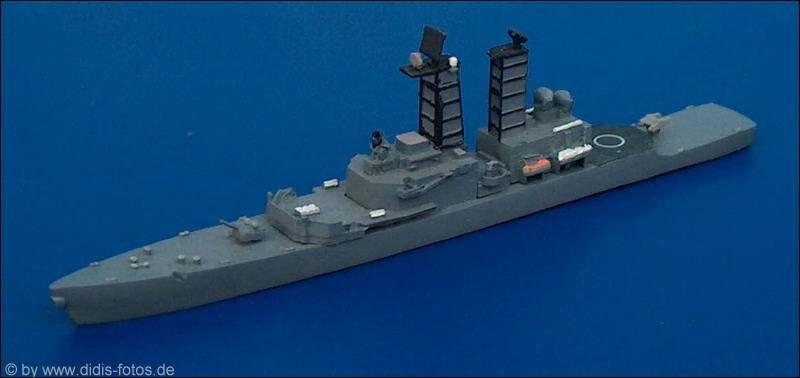 "US-Lenkwaffen-Kreuzer CG(N)-35 USS ""Truxtun"" der Truxtun-Klasse (früher als Zerstörer DLG(N)-35 klassifiziert) (Triton 1660) 1:1250"