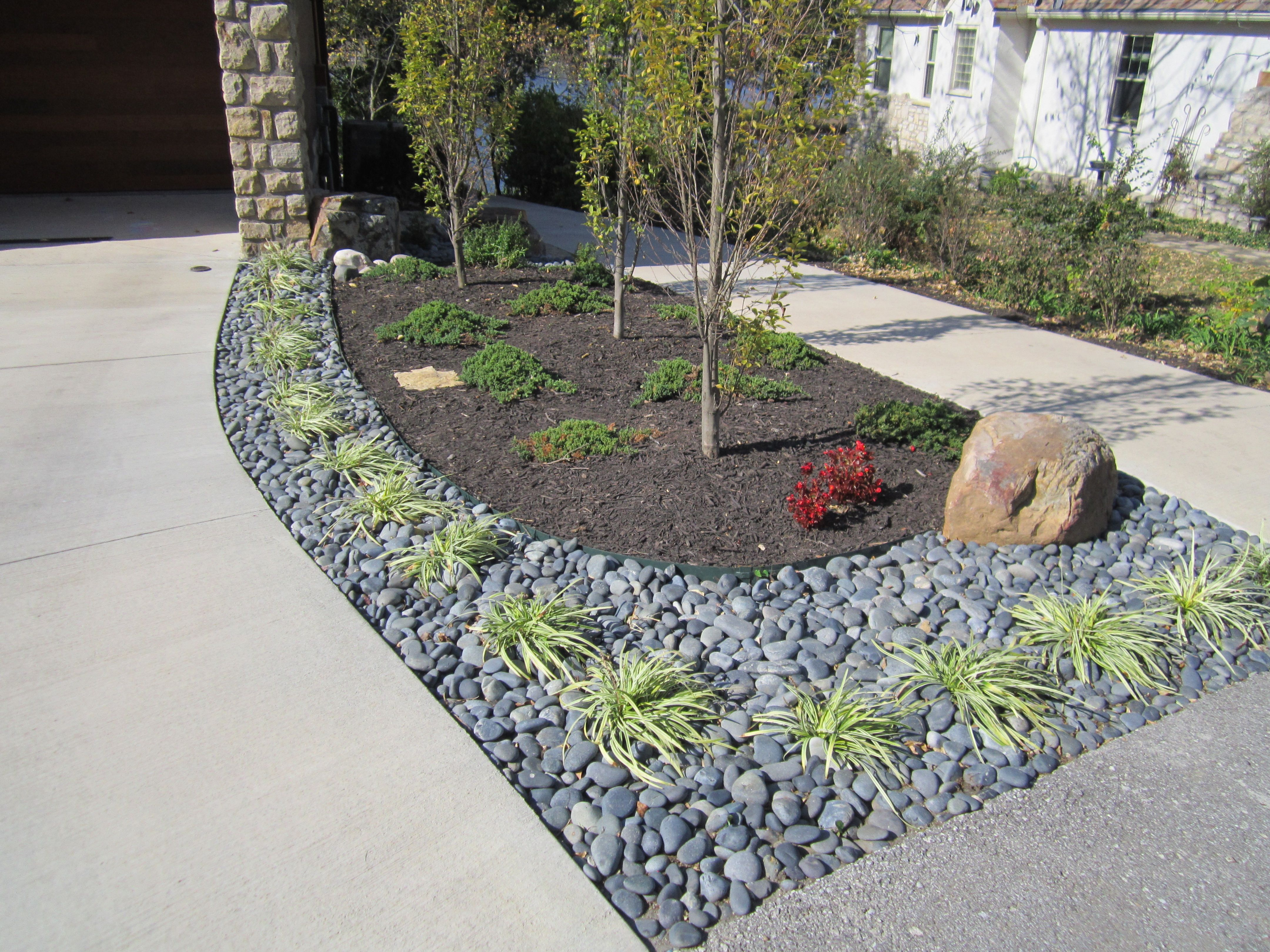 Landscaping: Side Yard Renovation by Driveway | Landscape ... on Backyard Renovation Companies id=88188