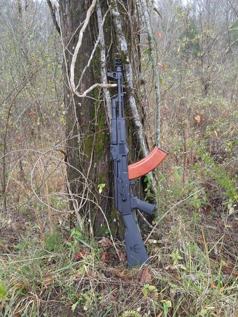 My Arsenal SAM7R-61 AK pattern rifle ( AK47 ) fitted with a