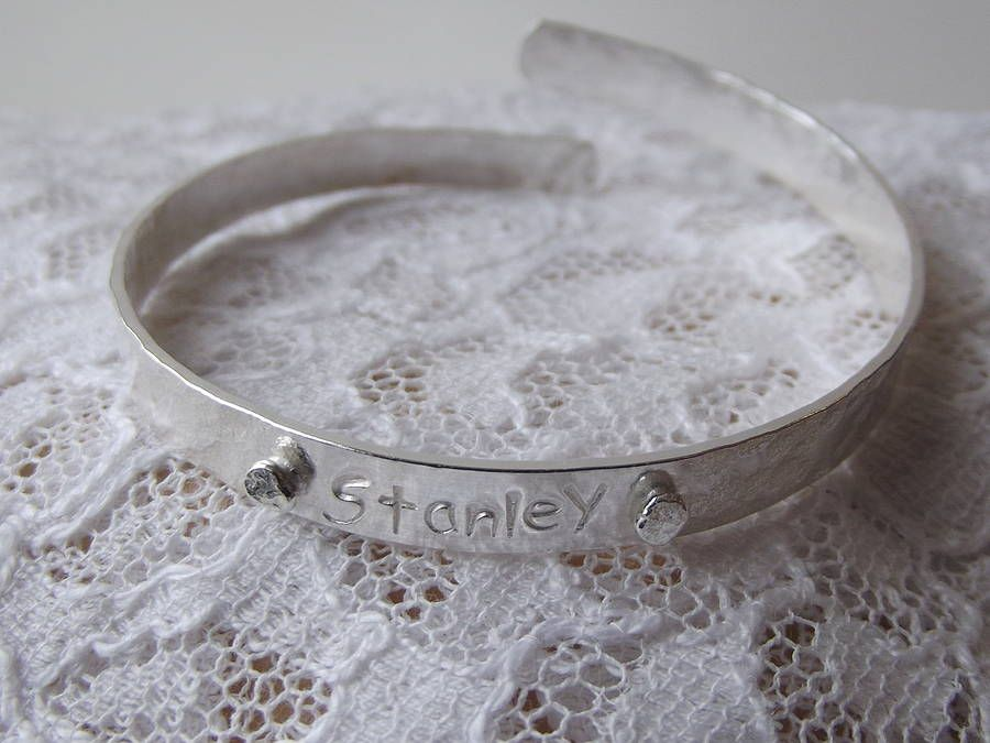 bb63d4830 Boys Sterling Silver Christening Bangle | Sparkely Things ...
