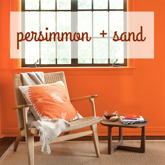 Give Your Rooms A Tropical Pop With Persimmon And Sand