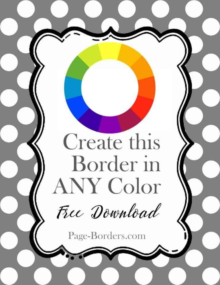 polka dot border maker dance recital page borders border