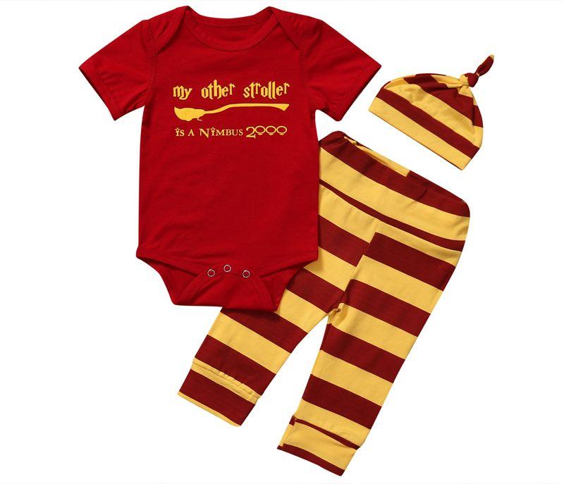 Nowy Casual Dziecięce Baby Boy Ubrania Wydrukować List