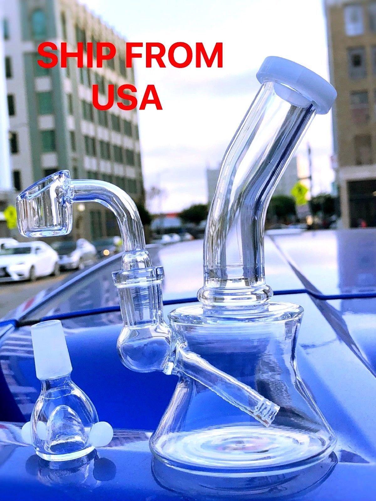 "Tobacco Glass Water Pipe Bong Bubbler Hookah 6/"" USA Seller Free Shipping"