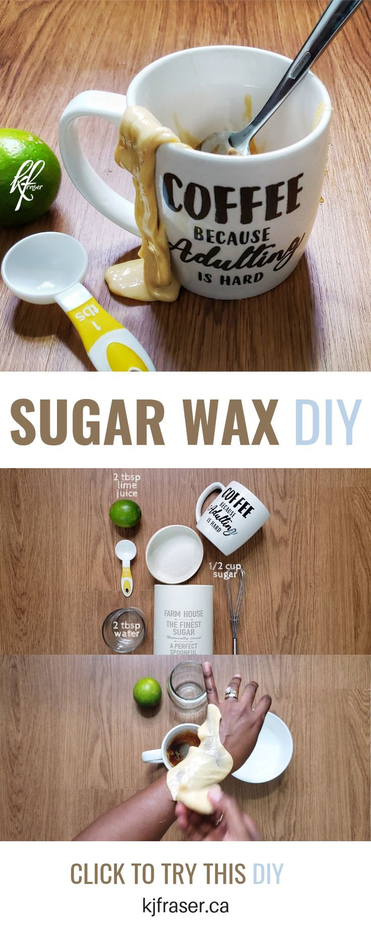 How to Make Sugar Wax Sugar Waxing for Beginners Sugar
